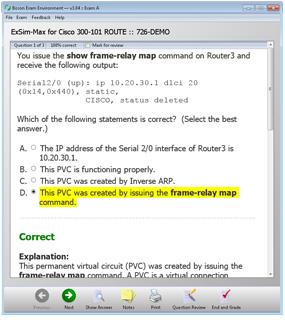 ROUTE 300-101 ROUTE Practice Exam Sim