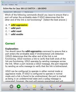 SWITCH 300-1115 Practice Exam Simulation