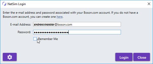 NetSim Activation Login Screenshot